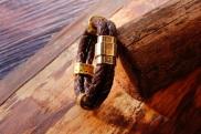 Bracelet en cuir de zébu - Atelier IZAHO - Madagascar 23