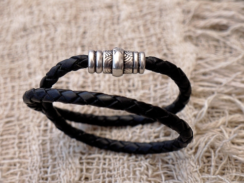 Bracelet en cuir, tressé, madagascar, IZAHO 2