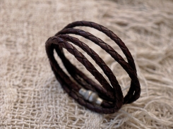 Bracelet en cuir, tressé, madagascar, IZAHO 4