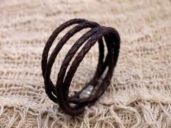 Bracelet en cuir, tressé, madagascar, IZAHO 5