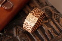 Bracelet IZAHO en cuir de Zébu - Madagascar - artisanat de Madagascar 5