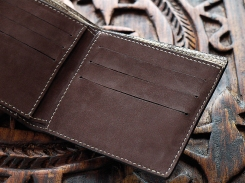 Porte carte de crédit, portefeuille, artisanat cuir Madagascar 3