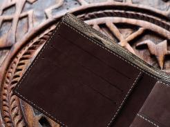 Porte carte de crédit, portefeuille, artisanat cuir Madagascar 4