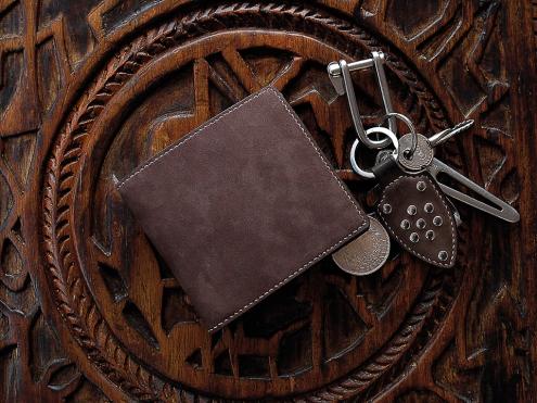 Porte carte de crédit, portefeuille, artisanat cuir Madagascar 7