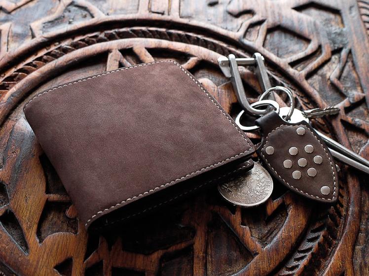 Porte carte de crédit, portefeuille, artisanat cuir Madagascar
