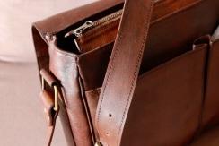 Cartable en cuir de zébu fait main - Atelier IZAHO 12