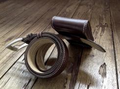 Petite sacoche de ceinture en cuir - Maroquinerie Izaho - Madagascar 10