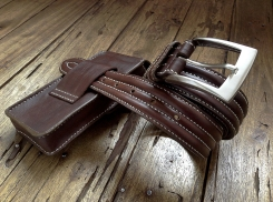 Petite sacoche de ceinture en cuir - Maroquinerie Izaho - Madagascar 7