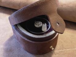 Etui pour moulinet pêche à la mouche en cuir - Izaho 5